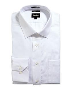Neiman Marcus  - Trim-Fit Regular-Finish Dress Shirt