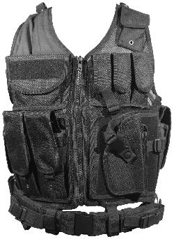Firepower  - Deluxe Tactical Vest Black