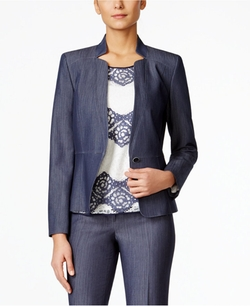 Nine West - One-Button Denim Jacket