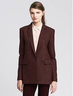Banana Republic - Burgundy One-Button Blazer