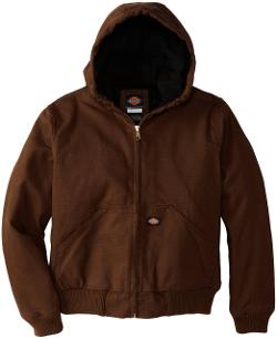 Dickies  - Boys Sanded Duck Hooded Jacket
