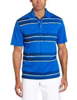PGA Tour - Printed Stripe Golf Polo Shirt