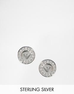 Emporio Armani  - Eagle Round Stud Earrings