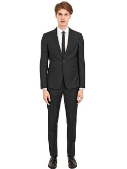 Emporio Armani  - Slim Fit Wool Sablè Suit