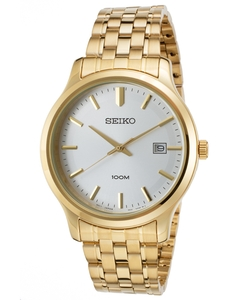 Seiko - Steel Silver-Tone Dial Watch
