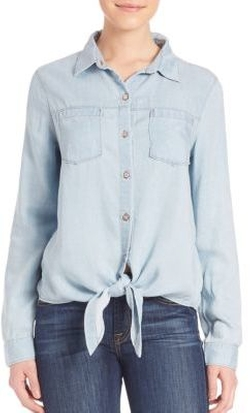 7 For All Mankind - Tie Front Denim Shirt