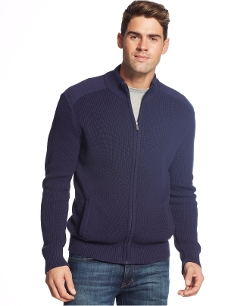 Club Room - French-Rib Full-Zip Cardigan