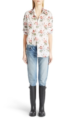 Saint Laurent - Floral Print Silk Blouse
