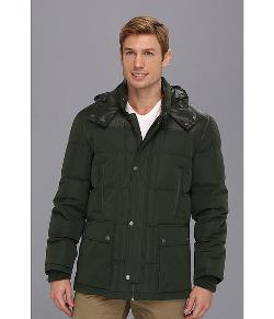 Cole Haan - Matte and Shiny Down Jacket w/ Hood