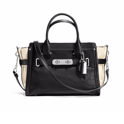 Coach  - Swagger 27 Colorblock Leather Satchel Bag