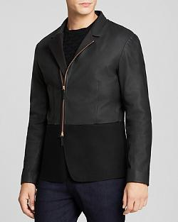 Armani Collezioni - Leather and Wool Jacket