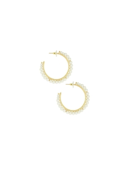 Lisi Lerch - Tally Pearl Hoop Earrings