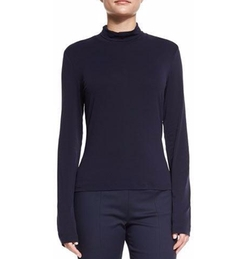 St. John - Mock-Neck Fine Jersey Top
