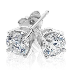 Reeds - Diamond Solitaire Earrings