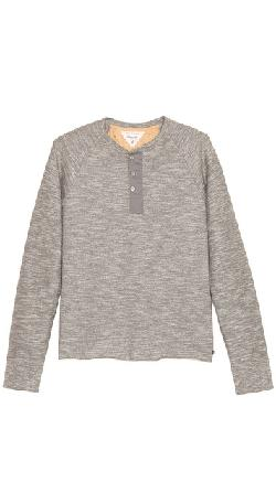 Rag & Bone - Long Sleeve Raglan Henley Tee