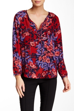 Rebecca Taylor - Flame Tie Neck Silk Blouse