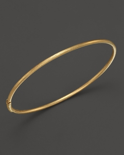 Roberto Coin - Gold Thin Satin Bangle Bracelet