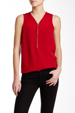 The Kooples - Silk Jersey Signature Tank Top
