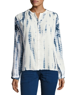 Ba&sh - Beija Tie-Dye Collarless Shirt