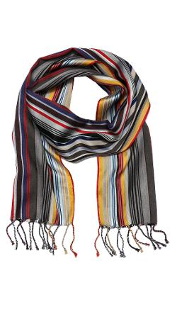Paul Smith  - Skinny Stripe Scarf
