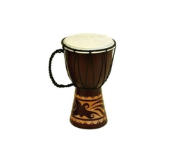 Benzara - Wood And Leather Djembe Drum