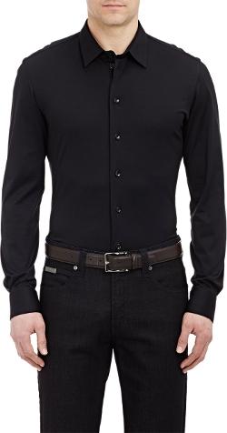 Armani Collezioni - Jersey Button-Down Shirt