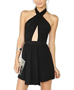 Chicnova - Backless Halter Dress