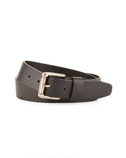 Neiman Marcus  - Pebbled Leather Belt