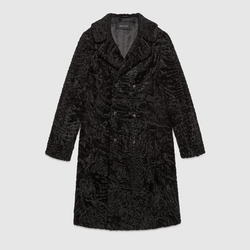 Gucci - Lamb Fur Double Breasted Coat