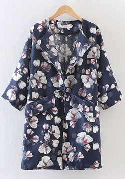 CiChic - Floral Print Pockets Trench Coat