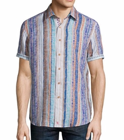 Robert Graham - South Dakota Textured-Stripe Short-Sleeve Shirt