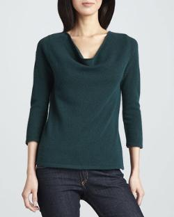 Neiman Marcus - Cashmere Boat-Neck Sweater, Women