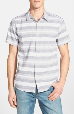 Quiksilver - Short Sleeve Stripe Woven Shirt
