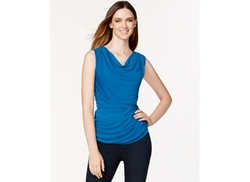 Robert Rodriguez - Cowl-Neck Ruched Top