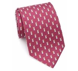 Salvatore Ferragamo - Bunny Printed Silk Tie