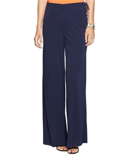Lauren Ralph Lauren - Lace-Up Wide-Leg Pants