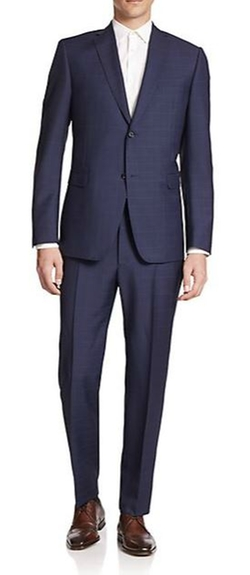 Z Zegna  - Two-Button Windowpane Suit