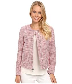 Anne Claire - Tweed Zip Front Jacket