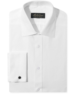 Michelsons Of London - Slim-Fit Chevron Texture French Cuff Tuxedo Shirt