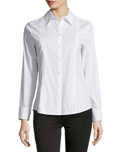 Paperwhite - Bar-Tack Long-Sleeve Blouse