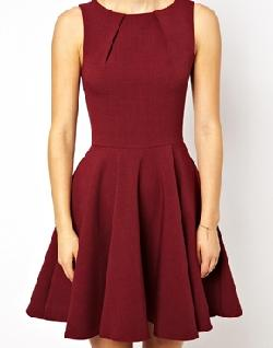 Asos - Closet Fit and Flare Skater Dress
