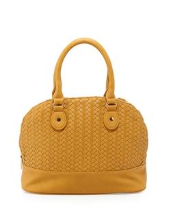 Neiman Marcus  - Woven Dome Satchel Bag