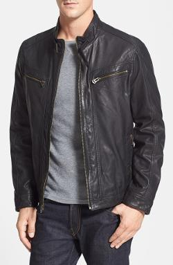 Cole Haan  - Waxed Leather Jacket