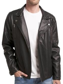Indigo Star - Trompe Pleather Moto Jacket