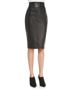 Bailey 44   - High-Waist Faux-Leather Pencil Skirt