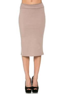 Azules - Beige Pencil Skirt