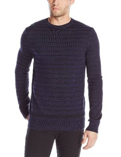 Calvin Klein Jeans - Denim Yarn-Stripe Sweater