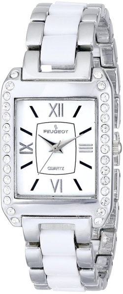 Peugeot - Crystal-Accented Link Bracelet Watch