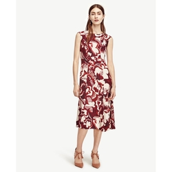 Ann Taylor - Watercolor Floral Midi Dress
