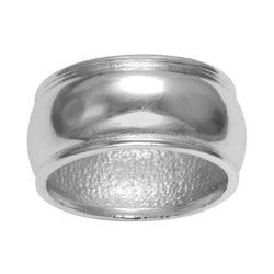 JC Penney - Silver-Plated Thick Band Ring